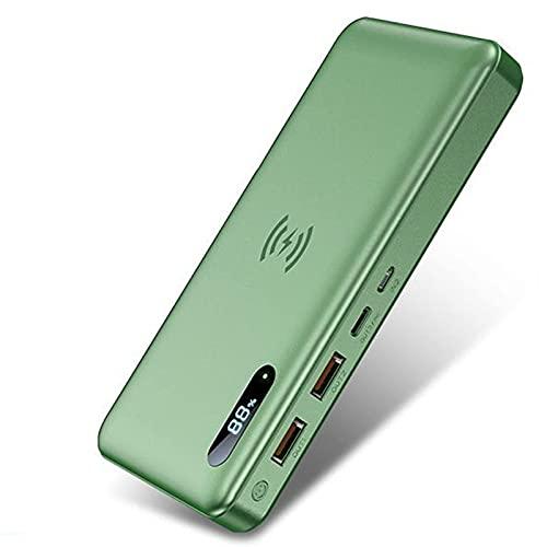 Wdszb Banco de energía inalámbrico de 30000 Mah, Cargador portátil de Carga inalámbrica de 15 W (Certificado Qi), 1 Entrada/Salida USB-C (65 W), Cargador de teléfono con Paquete de batería exter