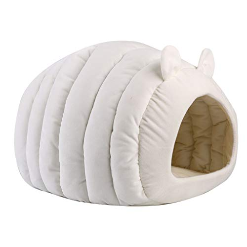 Juesi Cat Bed Cave House, Best for Indoor Cats Houses Heated Kitten Warm Pet Self Warming Caves Igloo Igloo Bed Pet Tent House, WH