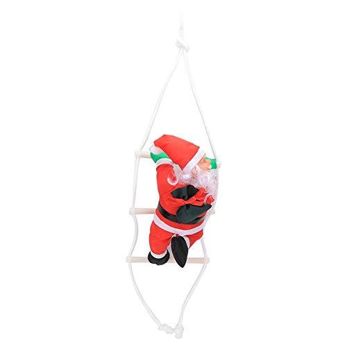 Fdit Kerstklimmen Kerstman gebreide ladder kersthanger decoratie kerstman kerstklimladder met geschenktasje MEERWEG AANBIEDING