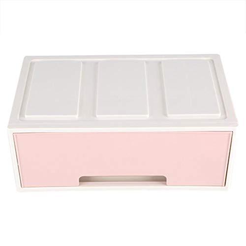 ZRL Caja de almacenamiento de escritorio para libros, organizador de maquillaje, organizador de maquillaje, con cajones, soporte para joyas, caja de maquillaje, decoración (color: D)