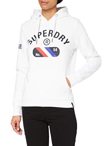 Superdry Vintage Sport Hood Sudadera con Capucha, Optic, M para Mujer