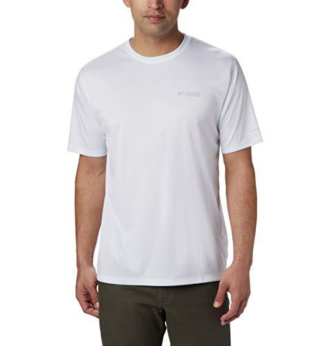 Columbia PFG Zero Rules PFG Zero Rules Chemise à Manches Courtes pour Homme - Blanc - X-Small