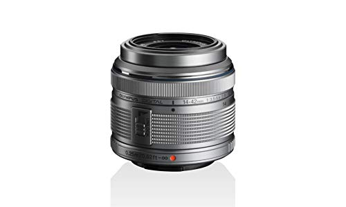 Objetivo Olympus M.Zuiko Digital 14-42 mm F3.5-5.6 II R, Zoom estándar, Adecuado para Todas Las cámaras MFT (Modelos Olympus OM-D & Pen, Serie G de Panasonic), Plata
