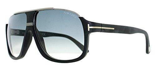 Tom Ford Herren FT0335 02W 60 Sonnenbrille, Schwarz (Nero Opaco/Blu Grad)