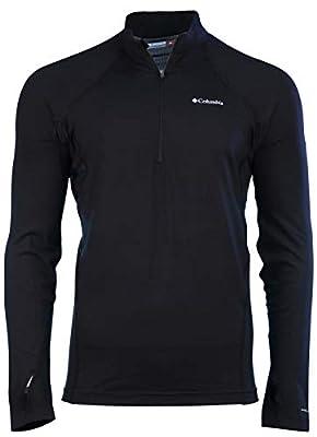 Columbia Men's Midweight Half Zip Omni Heat Top Black Shirt (XL)