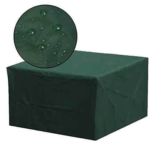 MAHFEI-Funda Protectora Muebles Jardín, Impermeable Mesa Silla Protección Rectangular Resistencia A La Decoloración Diseño A Prueba De Viento Anti-UV Tamaño Personalizable