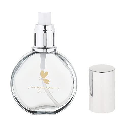 harayaa Bouteille de Parfum En Verre Transparent Rechargeable Portable de 75 Ml pour Décoration de Voiture Liquide - Noir régulier, 75ml