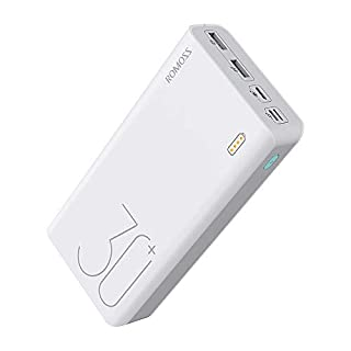 ROMOSS 18W 30000mAh Power Bank, with 3 Input Ports , 3 Output Ports (Type C 3A+Micro USB 2.4A+Micro USB 2.1A), Big Capacity Portable Charger, Fast Charging and Recharging External Battery Packs Compatible with Nintendo Switch, Samsung Galaxy(S9/S10 is no (B07H49NP8B) | Amazon price tracker / tracking, Amazon price history charts, Amazon price watches, Amazon price drop alerts
