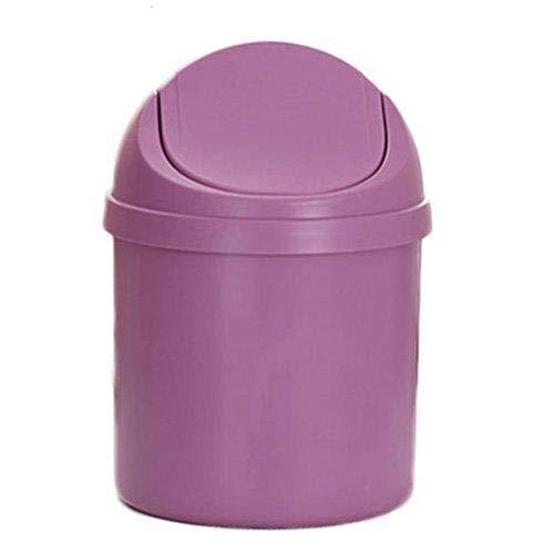 Depory - Minicubo de basura, para papelera de escritorio para el hogar o la oficina, cocina, o como caja de almacenamiento, color morado