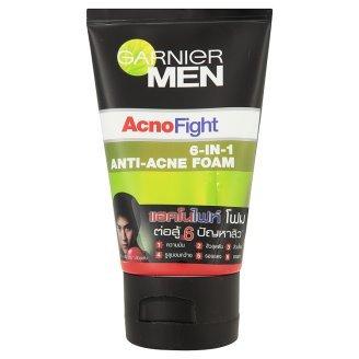 Garnier MEN Acno Fight 6 in 1 Anti-acne Foam NET Wt.100 Ml.
