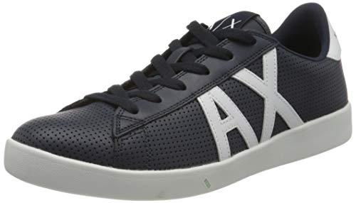 Armani Exchange Herren Sneaker, Blau (Navy+Opt White A138), 42.5 EU