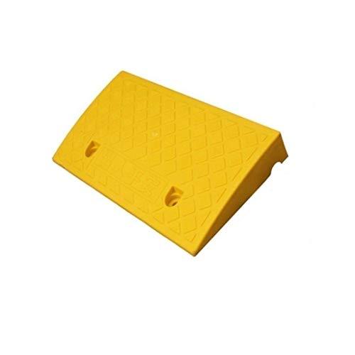 Alta calidad, color amarillo, plástico de salta, para casa o para el borde de la carretera de subida, antideslizante, práctico (color: amarillo, tamaño: 50 x 27 x 7 cm)
