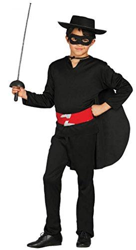 Guirca - Disfraz de Zorro, talla 5-6 años, color negro (78701)