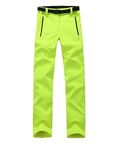 Hommes/Femmes Unisex Pantalon de randonnée imperméable Respirant Léger Pantalons de Survêtement Sport Pantalon de Trekking Femmes YG Vert XS