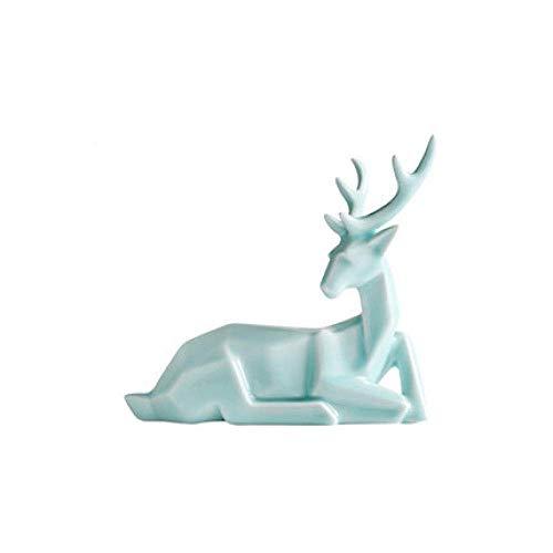 DSENIW QIDOFAN Crafts Dekorationen Art Craft Deer Hauptdekoration kreative Wohnzimmer Weinkühler TV-Schrank Studienbüro