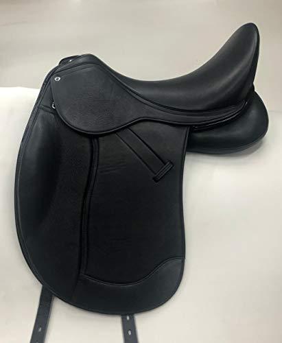 Dressursattel Donna doubliertes Leder 17,5 Z Leder weich! Mono Sattel Tysons Pauschen Tiefer Sitz incl. 5 Kopfeisen Kammer anpassbar