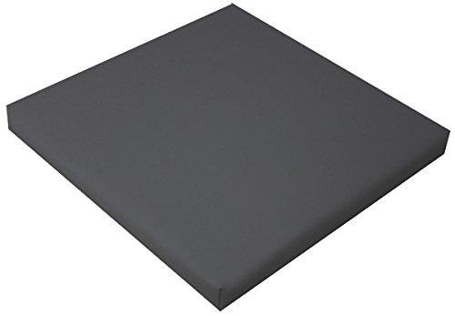 IDEALES hochwertiges Sitzkissen Stuhlkissen Bankkissen für Haus und Garten aus Kunstleder (grau)