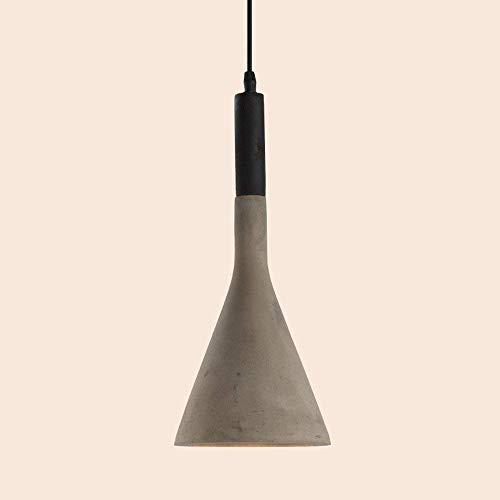 Lampadario in cemento, lampada a sospensione decorativa a LED Paralume in cemento moderno Creatività Bar Camera da letto Soggiorno Ristorante Balcone Altezza regolabile E27 Plafoniera