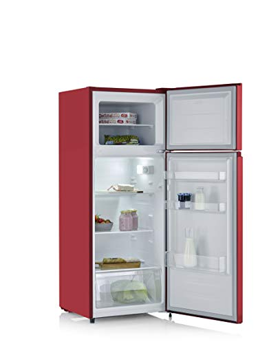 SEVERIN Doppeltür-Kühl-/Gefrierschrank DT 8763, 164 L/41 L, Energieeffizienzklasse A++, rot