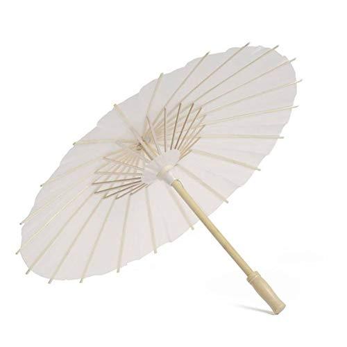 YUNGYE Chinese Traditional Handgefertigte Ölpapierschirm Sonnenschirm chinesisches Papier Regenschirm-Tanz Pros Weiß Dance Umbrella Ölpapier Regenschirm (Color : A3 40CM)