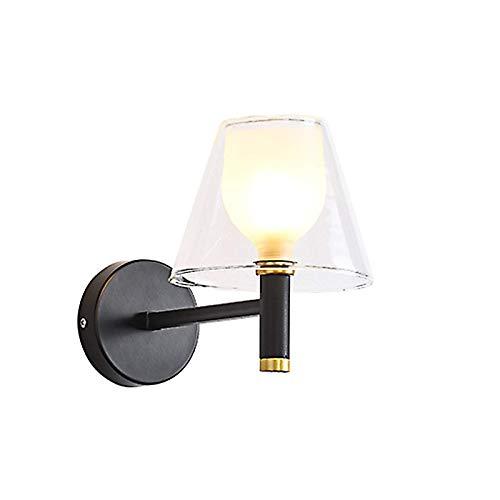 BANNAB Lámpara de Pared LED para mesita de Noche, Aplique Moderno y Simple con Cubierta de Vidrio, lámpara de Pared Interior para Dormitorio, Sala de Estar, Hotel (luz Variable)