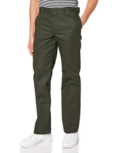 Dickies Slim Fit Straight - Pantalones para hombre, Verde (Olive Green), W33/L32