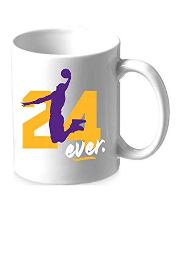 Kobe 24ever Tasse Fan Accessoire Los Angeles Lakers Basketball (Weiß)