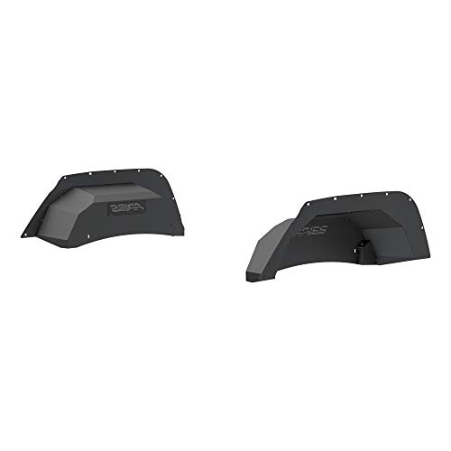 Price comparison product image ARIES 2500350 Black Aluminum Rear Jeep Wrangler JK Inner Fender Liner Wheel Well Guard Covers