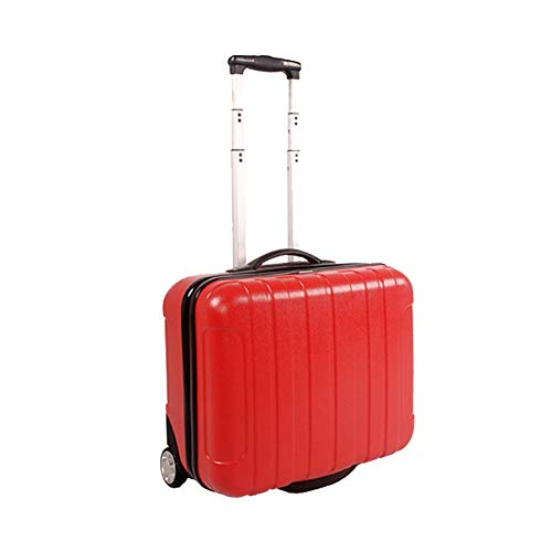 QWERASD Trolley Bag Suitcases with Wheels Business Trolley Case Small Suitcase Boarding Travel High Capacity Non-Slip Waterproof 46 * 26 * 40.5 (Cm),Red,Small