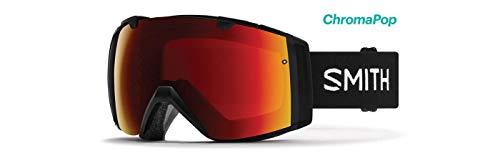 Smith Optics I/O Adult Snow Goggles - Black/Chromapop Sun Red Mirror/One Size