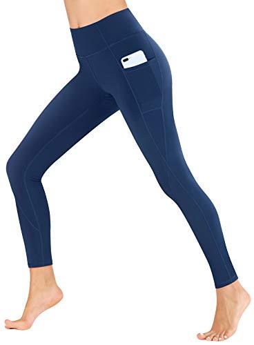 Heathyoga Yoga Pants for Women with Pockets High Waisted Leggings with Pockets for Women Workout Leggings for Women Blue