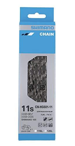 SHIMANO Unisex– Erwachsene I-cnhg60111126q Fahrradkette, Silver, 126 Glieder