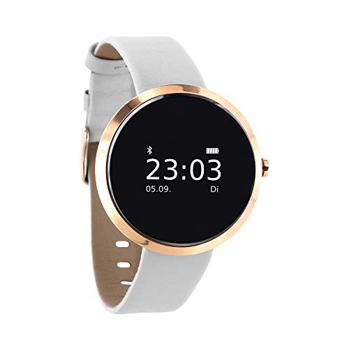 X-WATCH SIONA Montre Intelligente pour Femme, Montre Android et Smart Watch iOS, Montre de Sport Connectée, Montre de fitness, Compatible avec iPhone