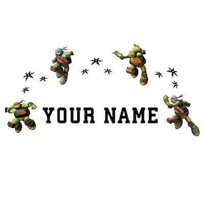 Amazon Com Personalized Teenage Mutant Ninja Turtles Kids Name Wall Decal Baby