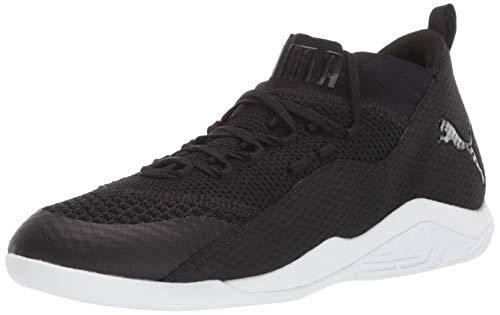PUMA Men's 365 Ignite Fuse 2 Futsal-Shoe, Black White, 8.5 M US