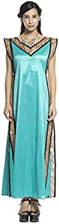 Opera Blue And Gold Casual Dress For Women