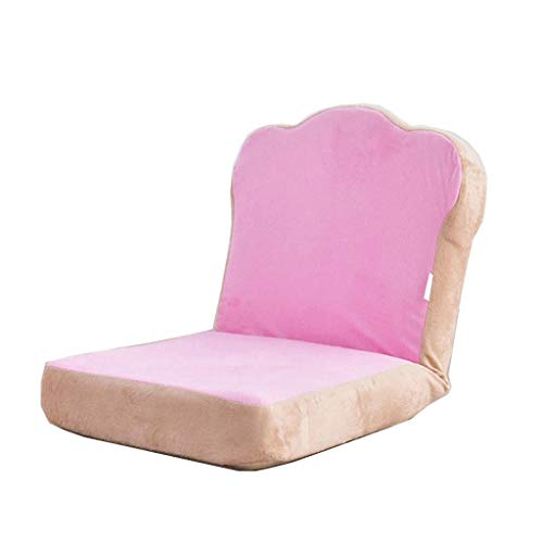 Kaidanwang Sofá Perezoso Casual Presidente Gaming Floor, Lazy Sofá Sofá Cama, Suavemente Acolchado, fácilmente Plegable for Adolescentes Adultos - Rosa (Color : Pink)
