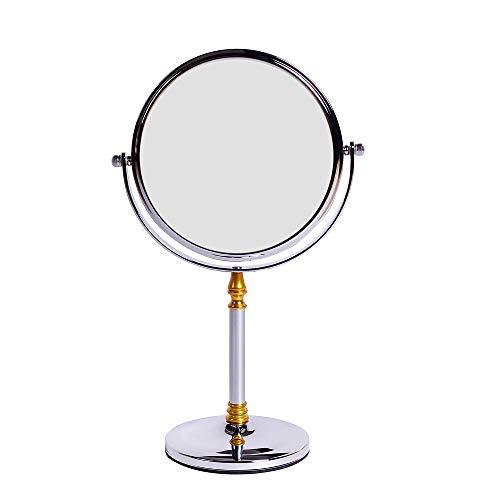 HTAO Energiebesparende anti-vertigo make-up spiegel 360 graden rotatie functie natuurlijk daglicht 3 keer vergroting van toepassing op mooie badkamer tafel luxe hotel gewijd