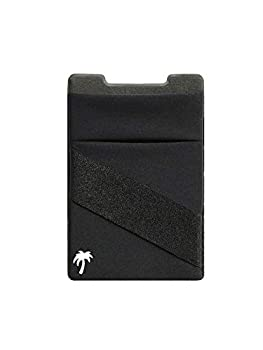 New 3-in-1 Stick On Wallet for Any Phone Case | Unique  Spandex + Mounts to Magnets + Double-Pocket + Finger Strap + RFID Block – Strong 3M Sticky + Magnetic  Black 1 Pack