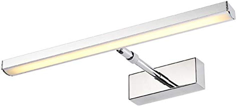 JINGD LED Badezimmer einziehbarer Spiegel Scheinwerfer, wasserdicht und feuchtigkeitsfest Edelstahl Spiegelschrank