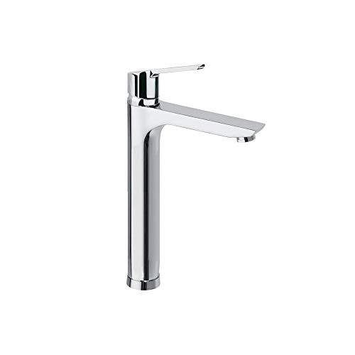 Ramon Soler 46A305026 Atalanta – Grifo de lavabo altura XL con sistema S2 de ahorro de agua del 50%, limitador de temperatura tempostop y cromado Diamond Finish