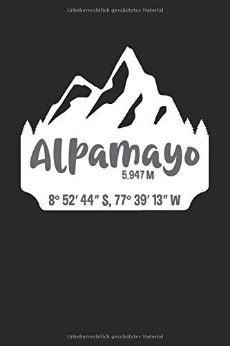 Alpamayo: Punktiertes Notizbuch mit 120 Seiten zum festhalten für Eintragungen aller Art