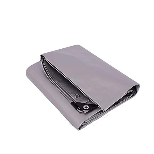 Yannn Lona Impermeable, Material Grueso PE Resistente, Lona de Polietileno, Muy Adecuada para Carpas de Lona Impermeable, Barcos, Cubiertas de Piscinas, Plata