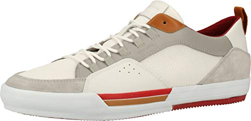 Geox Herren U KAVEN B Sneaker, Grau (Lt Grey/White C1303), 45 EU