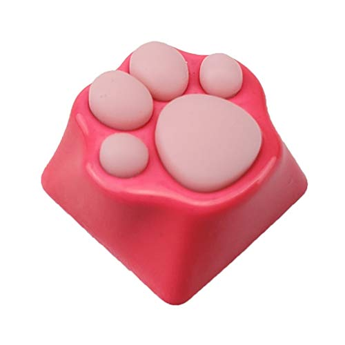 GREEN&RARE Personality Keycaps for Windows & Mac PC Gamers, Lovely Kitty Paw Artisan Cat Paws Pad Mechanical Keyboard KeyCaps for Cherry MX Switches