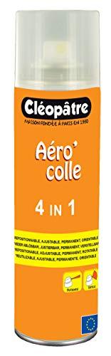 Cléopâtre ACP2504EN1 - Aérocolle - Aérosol 4-en-1-250 ml Transparent 21 x 16 x 18 cm