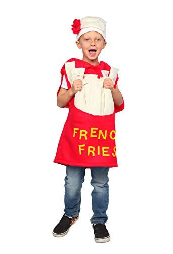 Dress Up America Disfraz de papas fritas para nios - Disfraz de papas fritas divertido para nios y nias