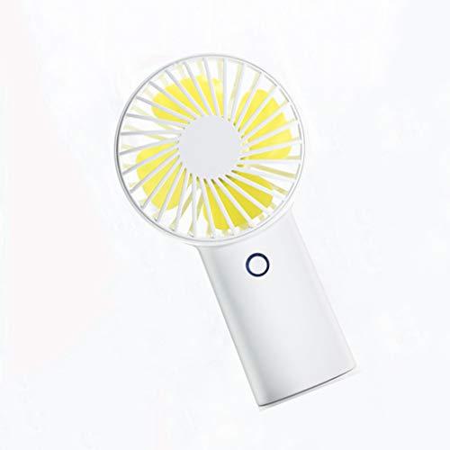 FANS Ventilador de Mano portátil Mini Ventilador eléctrico silencioso USB con hasta 30 Horas de duración de la batería y 3 velocidades, Adecuado para escritorios, oficinas, Viajes al Aire Libre