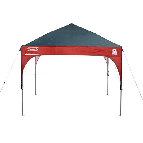 Coleman Canopy Shelter with All-Night LED Lighting | Sun Shelter Tent with Instant Setup, 9 x 9 Feet