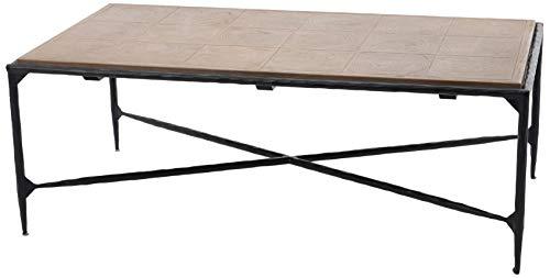 Amadeus Table Basse en Bois d'orme et métal Aiguille